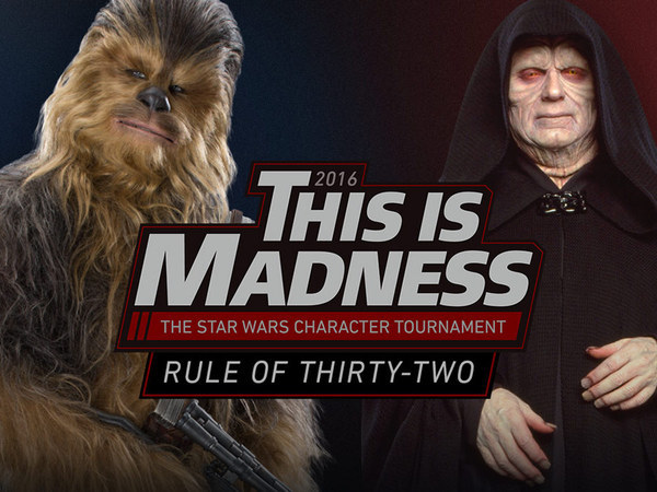 The 2016 'This Is Madness' Star Wars Character Tournament Has Begun!