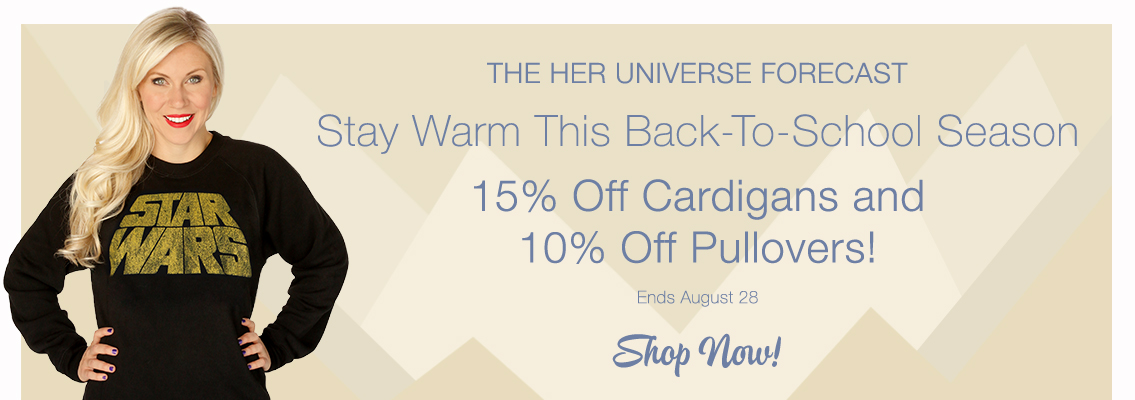 Back-To-School Savings on Star Wars Pullovers and Cardigans at Her Universe!