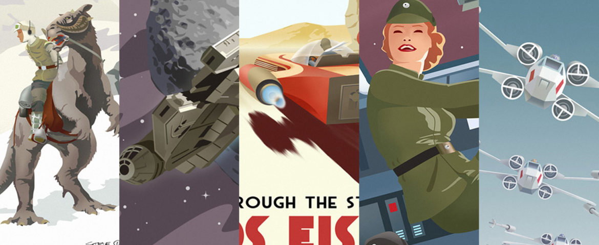 """PULSE GALLERY EXCLUSIVE: Steve Thomas Star Wars """"VINTAGE TRAVEL POSTER"""" Series Now Available"""