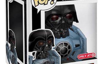 Target Exclusive! Funko's Darth Vader in TIE Fighter Pop! Deluxe Bobble Head