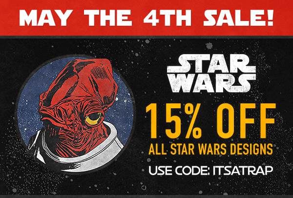 Get 15% Off at Fifth Sun for Star Wars Day!