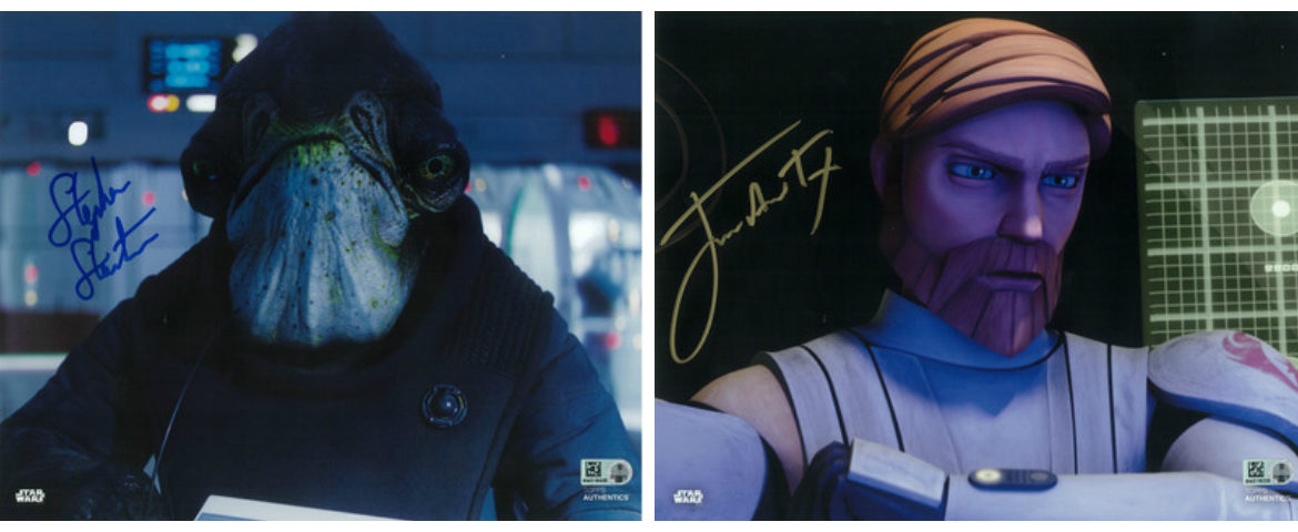 New! James Arnold Taylor and Stephen Stanton Autographs Available from Star Wars Authentics