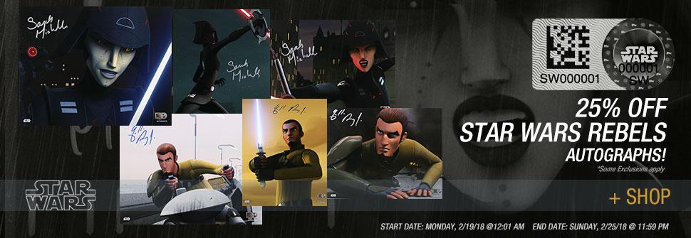 Save on 'Star Wars Rebels' Autographs at Star Wars Authentics