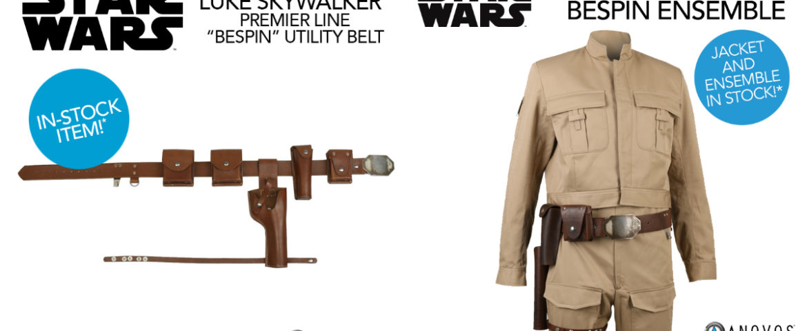 """Star Wars Luke Skywalker """"Bespin"""" Utility Belt and Ensemble Now In-Stock and Shipping from Anovos"""