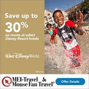 Save Up To 30% on Rooms at WDW