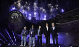 Star Wars: Galaxy's Edge Dedication Moment at Disneyland Park Featuring George Lucas, Mark Hamill, Billy Dee Williams, and Harrison Ford