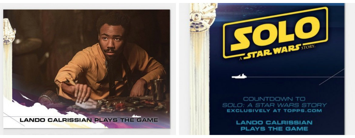 Topps 'Countdown to Solo: A Star Wars Story' Card of the Day Features Lando Calrissian