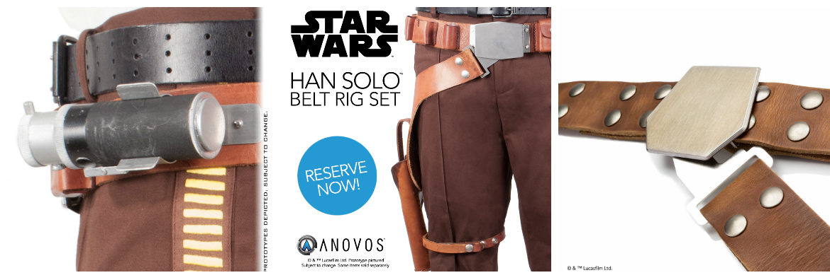 Star Wars Han Solo Belt Rig Special Pricing from Anovos