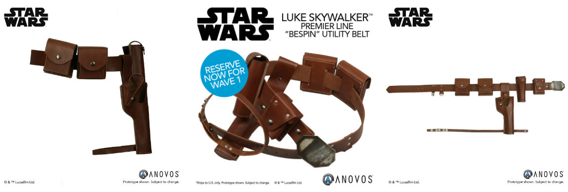 Star Wars Luke Skywalker Utility Belt Available Again from Anovos — Limited 25-Unit Run!