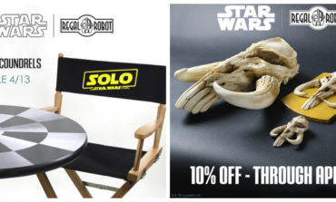 New 'Solo: A Star Wars Story' Director's Chair from Regal Robot, Plus Limited Time Discounts