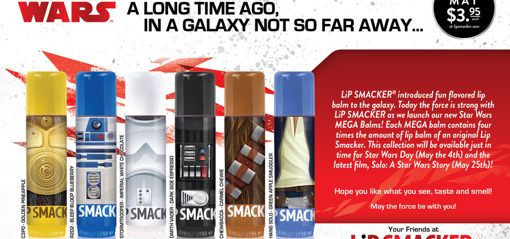 Lip Smacker Announces Star Wars MEGA Balms