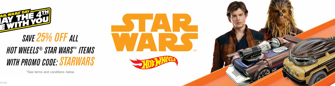 Get Star Wars Day Savings from Hot Wheels!