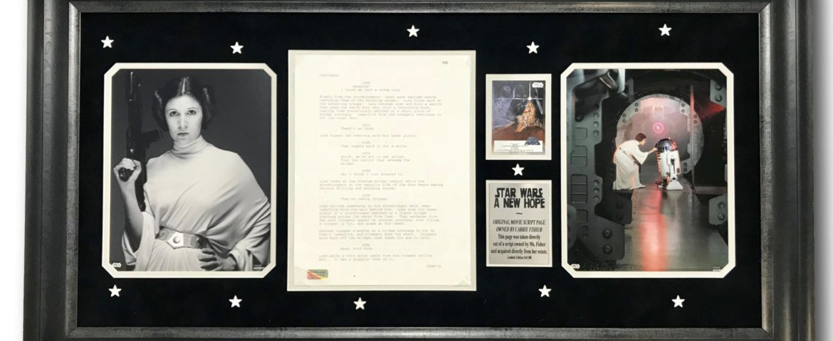 """Inscriptagraphs Announces Sale of Carrie Fisher's Personal """"Star Wars: A New Hope"""" Movie Script Pages"""