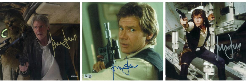 Flash Sale! Harrison Ford Autographs 10% off at Star Wars Authentics!