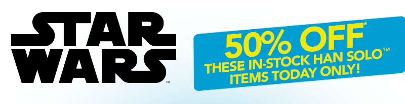 50% OFF Select In-Stock Star Wars Han Solo Gear from Anovos