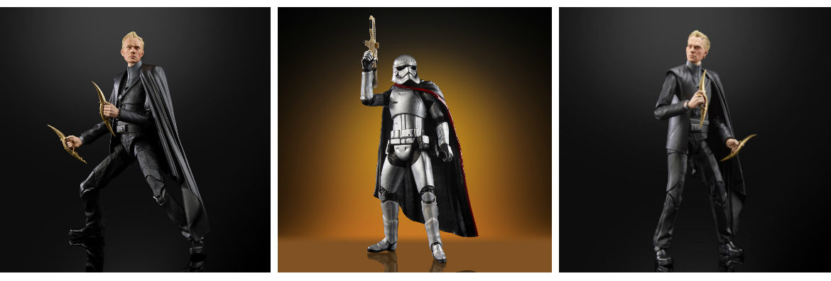 Hasbro Reveals Star Wars Black Series Dryden Vos and Vintage Collection Captain Phasma