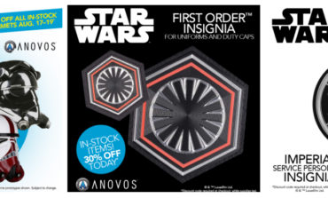 In-Stock STAR WARS Helmets 30% OFF Through 8/19; 30% OFF Uniform Insignia TODAY ONLY -- From Anovos!