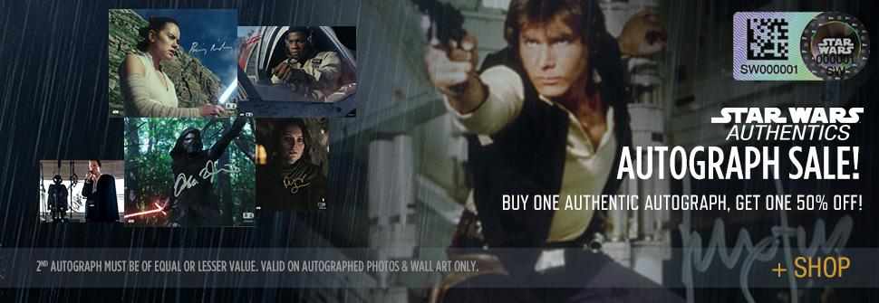 Labor Day Sale at Star Wars Authentics – Buy One Get One Autograph 50% Off, 30% Off Official Photos