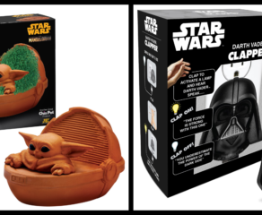 Use the Force with the Darth Vader Clapper and The Mandalorian's The Child Chia Pet!