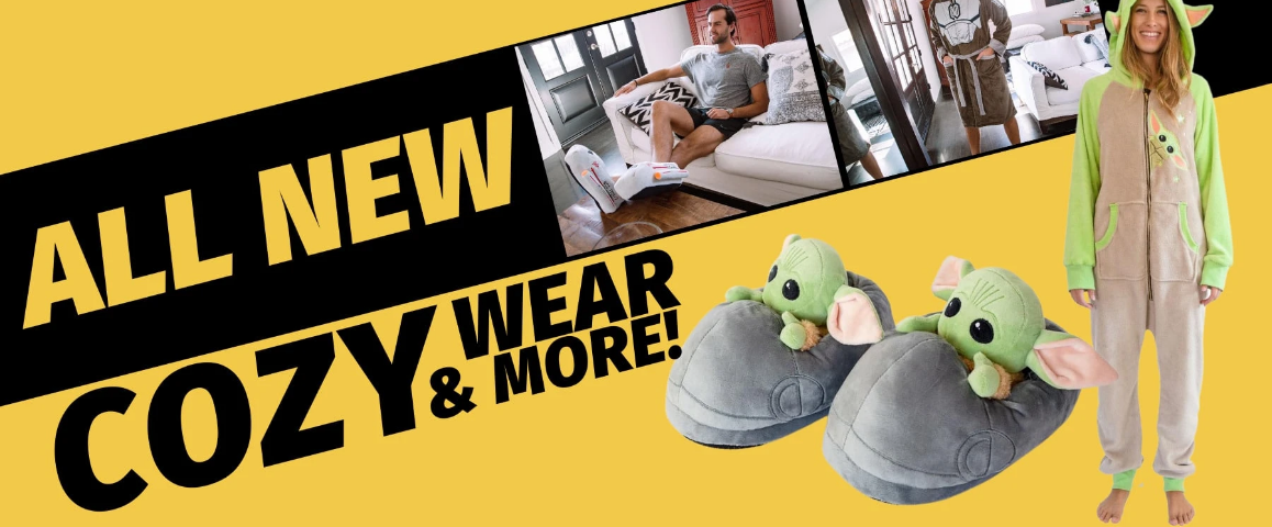 Cozy Up with Officially Licensed Star Wars (and More!) Robes and Slippers from Toynk