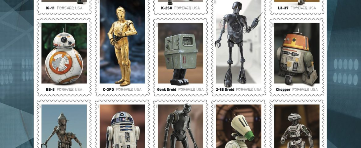 New 'Star Wars' Stamps Featuring Beloved Droids Are Coming This Spring