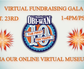 Rancho Obi-Wan Virtual Fundraising Gala October 23rd!